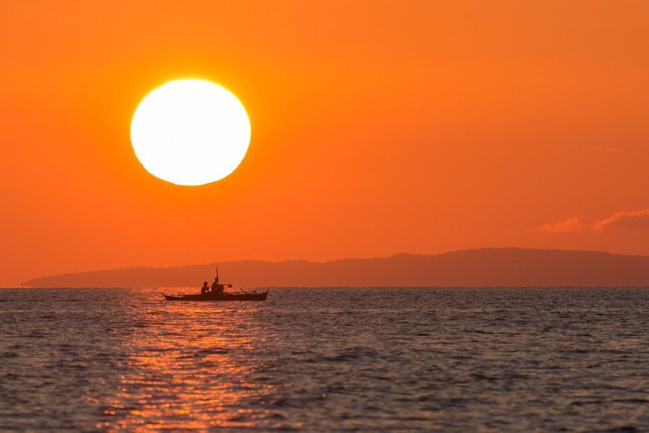 Amazing sunset in Aklan Philippines