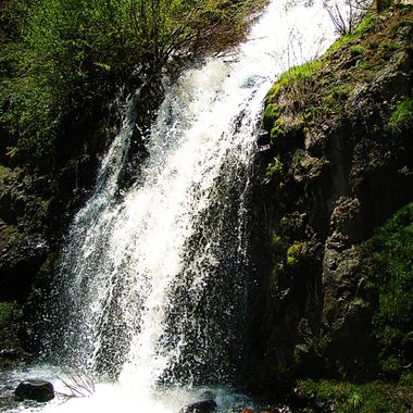 Waterfall Along the Road on Wolf Creek Pass,
