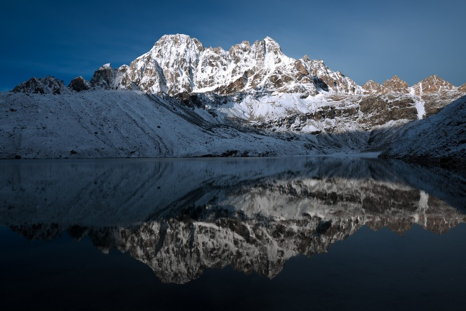 Pharilapche reflecting over Gokyo Tso