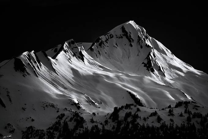 Fingers of Light by ChrisWilliamsEXP - Black And White Mountain Peaks Photo Contest