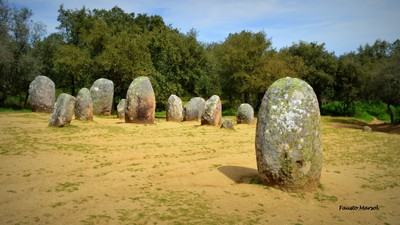 Neolithic Cromleque of the Almendres (1-3).