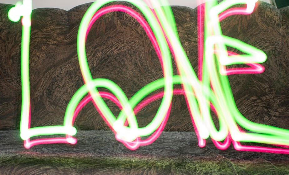 love written with light