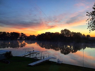 Michigan Morning Reflection on Lake Columbia