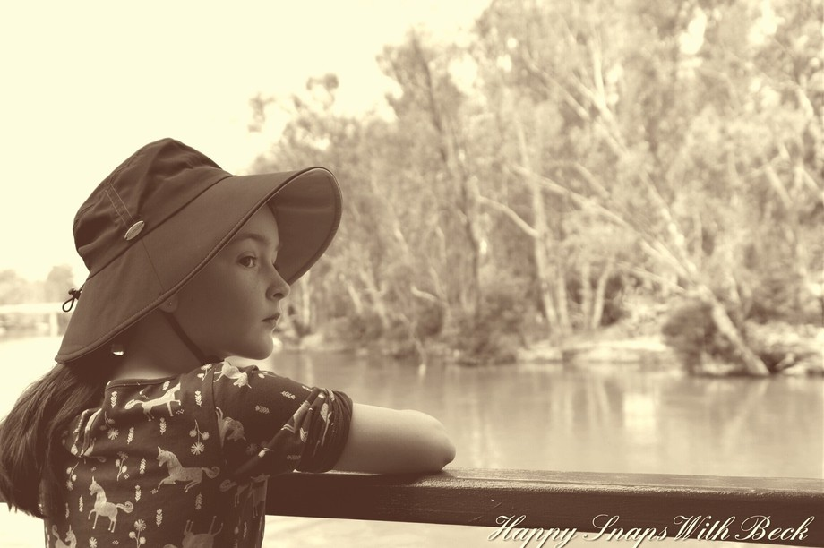 My daughter taking in the beautiful scenery of Australia at it's best!