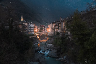 Chiavenna after the sunset