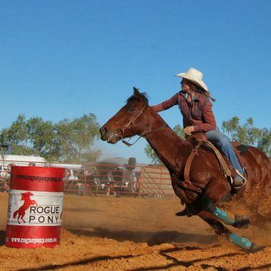 Womens barrell riding  Mullewa Rodeo  Mid west Western Australia