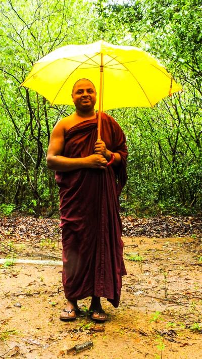 A Sri Lankan Buddhist monk