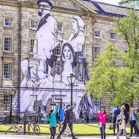 A HUGE NEW piece by artist Joe Caslin has just been completed in the Front Square of Trinity College Dublin.  It's amazing #painting #contem...