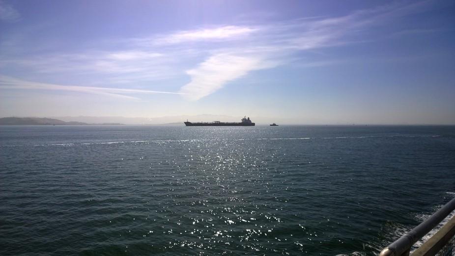 Tanker in the morning
