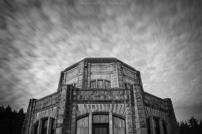 Vista House BNW by DreamCapturedImages - Everything In Black And White Photo Contest