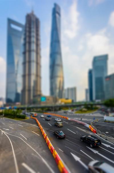Shanghai Pudong tilt-shift