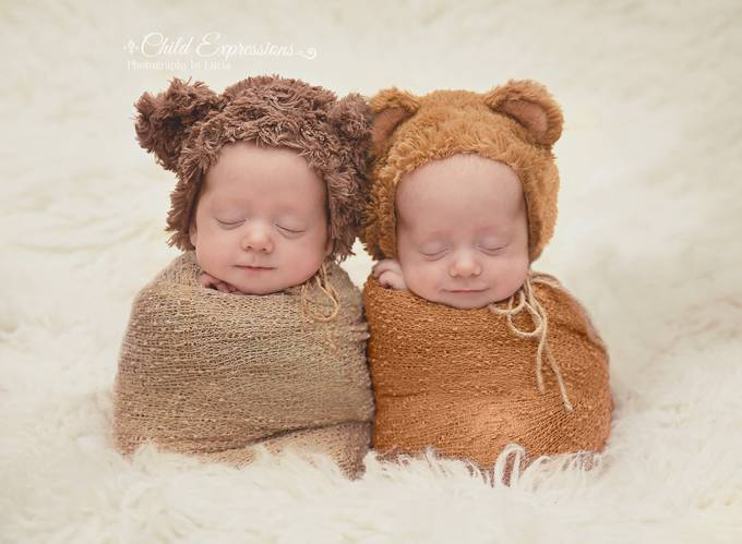 Twin teddies by Child_Expressions - Babies Are Cute Photo Contest