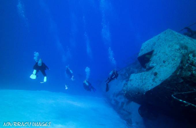 The Tippetts is a purposely sunk Russian frigate. She lies in 90' of water off the coast of Cayman Brac.