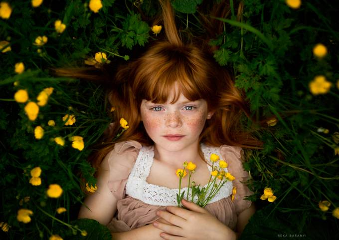 Freckled girl... by Reka - Beautiful Flowers Photo Contest