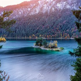 Colourful Eibsee lake in early autumn last year.