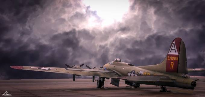 B17 Flying Fortress by philipdrispin - Monthly Pro Vol 33 Photo Contest