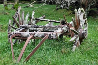 Old wagon, Waiorongomai Station
