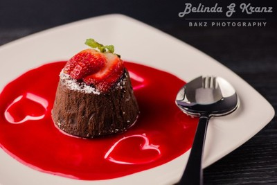 Luscious Strawberry Lava Cake