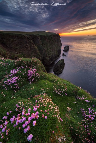 Sunset on the cliff