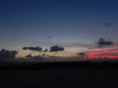 Sunset Crescent Moon