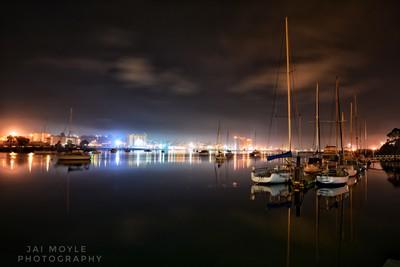 Devonport at night
