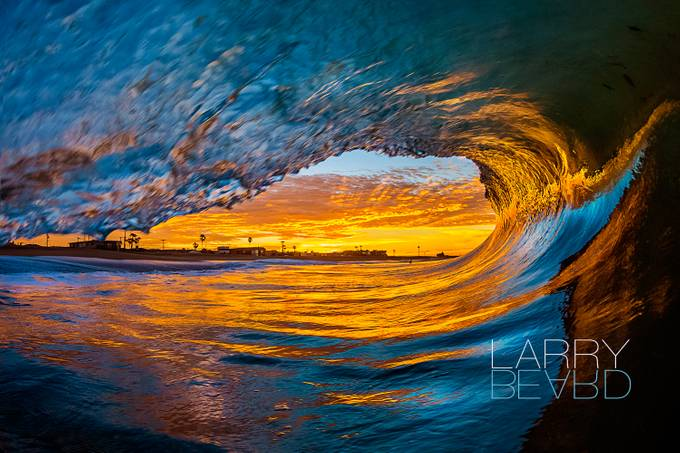 Sunrise Colored Cave by larrybeard - Curves In Nature Photo Contest
