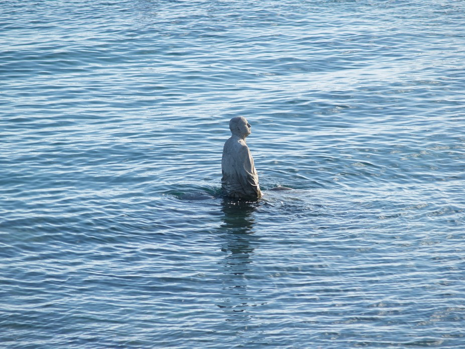 I was lucky to visit an 'underwater museum'. At low tide, all the statues emerg...