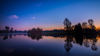Lake Night Sunset