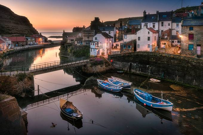 Staithes_Sunrise by gilesrrocholl - Cities By The Water Photo Contest