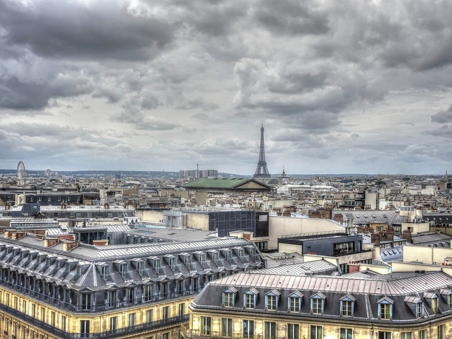 Paris From The Rooftop of Galeries Lafayette