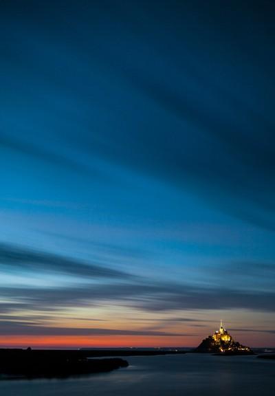 Twilight at Mont Saint Michel