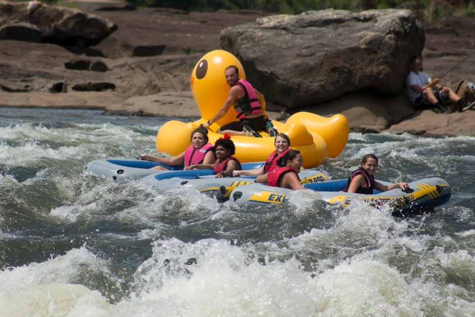 Photo taken at the Columbus Whitewater Express Course, located in Columbus, Georgia.