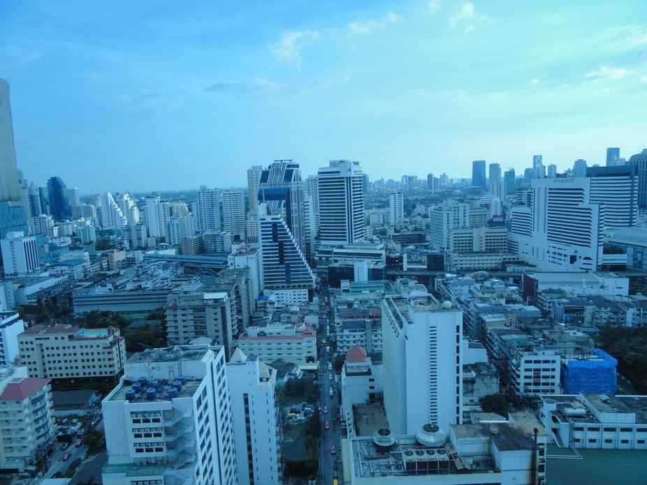 Фото сделала на рассвете.Бангкок. Таиланд.