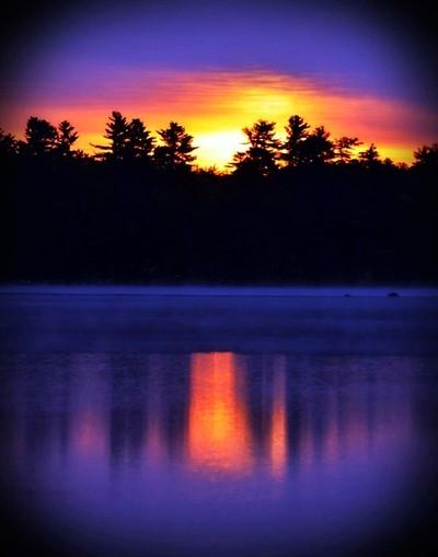 Sunset over Watchic Lake