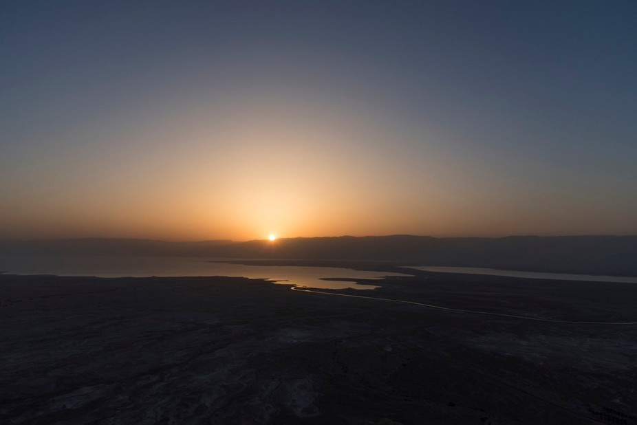 We hiked to the top of Masada super early in the morning so we could watch the sunrise from the t...