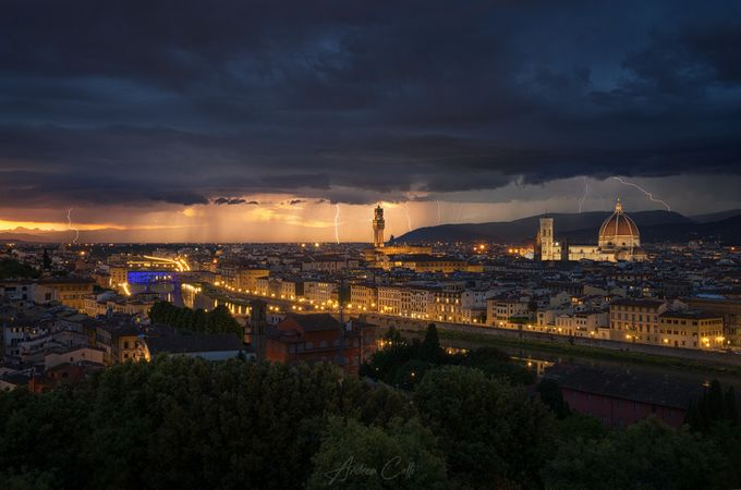 Storm above Florence by andreacelli - A Storm Is Coming Photo Contest