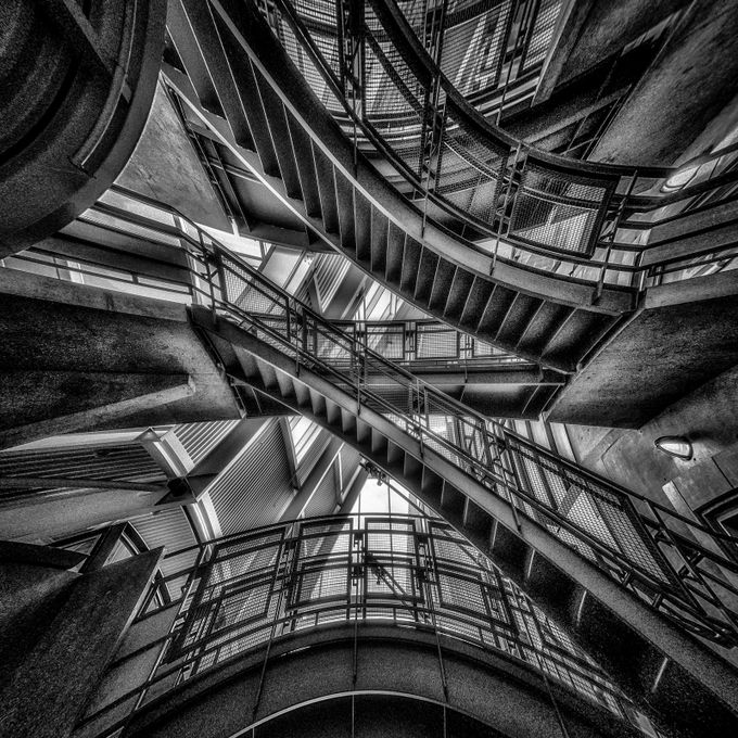 Down the Rabbit Hole - B&W by gldosa - Stairways Photo Contest