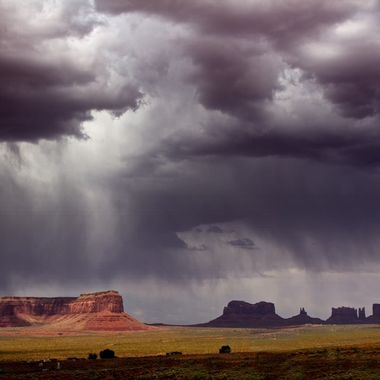 Monument Valley before the storm