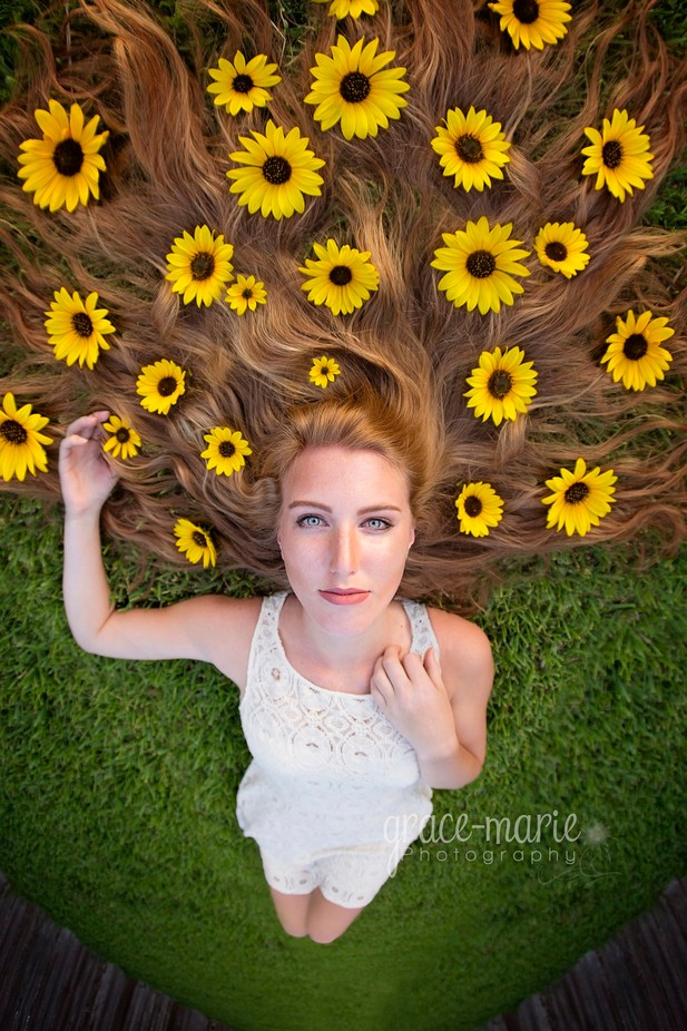 Flowers in her hair by gbrunken - Compositions 101 Photo Contest vol4