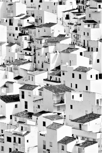 Pueblo Blanco (High Contrast Black and White)