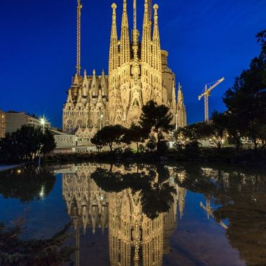 Bluehour at the incredible Sagrada Familia in beautiful Barcelona, Spain.