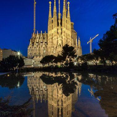 Bluehour at the incredible Sagrada Familia in beautiful Barcelona, Spain.