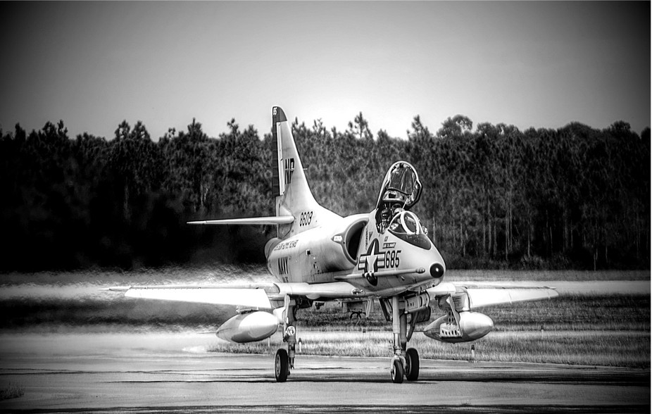 A-4 Skyhawk, one of my favorite planes, taxiing in after performing at a recent airshow in Pensac...