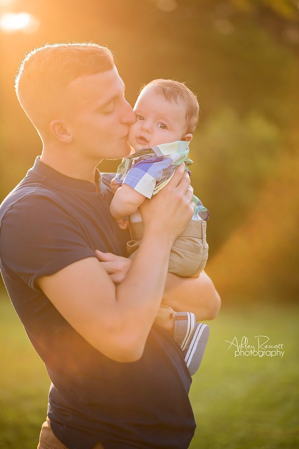 Kisses from Daddy by ashleyrescott - We Love Our Dads Photo Contest