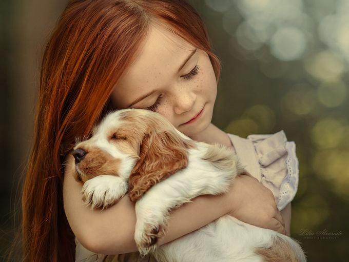 Happiness is... a warm puppy by liliaalvarado - Faces With Freckles Photo Contest