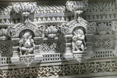 Stone carvings of Ganesha