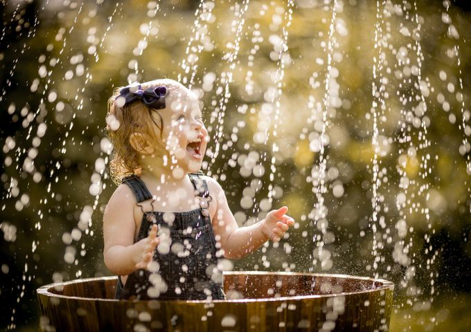 Summer Sprinkle by mamamangan - Kids And Water Photo Contest