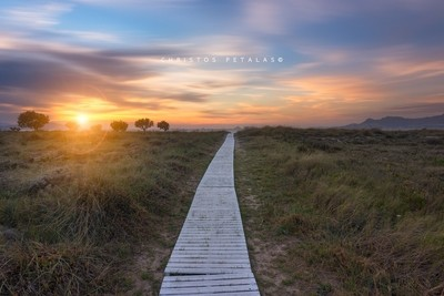 Path into the sunset