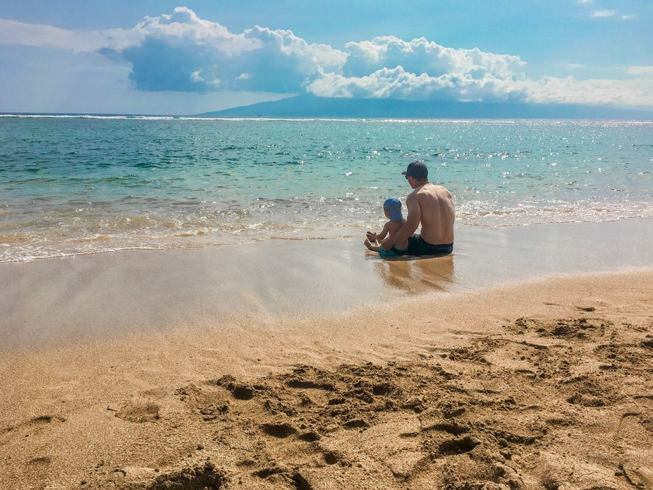 Taken in Maui,HI my sons first time at the beach