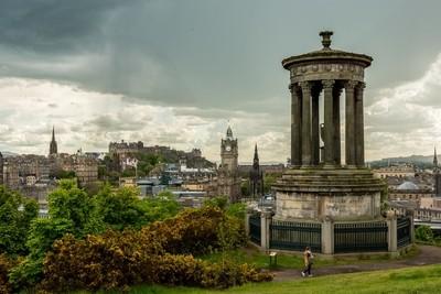 Rainclouds over Edinburgh